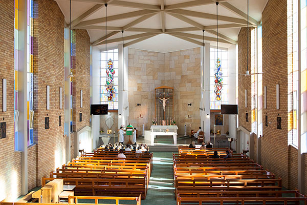 Inside the St Peter Chanel Catholic church