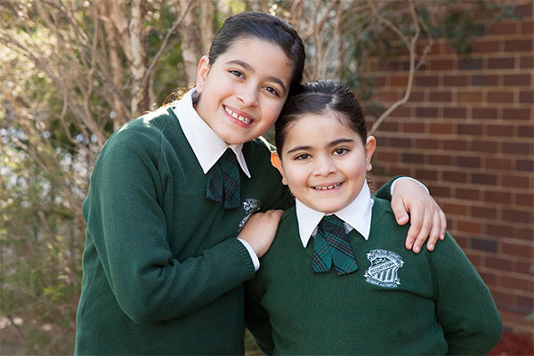 Two sisters from St Peter Chanel Catholic Primary School Regents Park